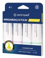 Zvýrazňovač Centropen Highlighter Style Soft 6252/4 - klínový hrot, 1-4,6 mm, sada 4 ks