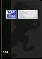 Školní sešit 644 Oxford - A6, linkovaný, 40 listů, černý