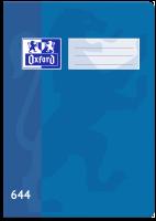 Školní sešit 644 Oxford - A6, linkovaný, 40 listů, modrý