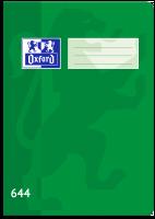 Školní sešit 644 Oxford - A6, linkovaný, 40 listů, zelený
