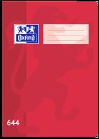 Školní sešit 644 Oxford - A6, linkovaný, 40 listů, červený