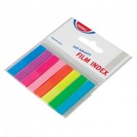 Samolepící záložky Noki - 12x45 mm, plastové, 8x20 listů, neon, 8 barev