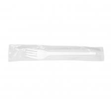 Plastová vidlička - hygienicky balená, 16,5 cm, bílá, 100 ks