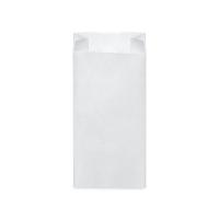 Svačinový papírový sáček 1,5 kg - 14+7x29 cm, bílý, 100 ks