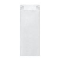 Svačinový papírový sáček 2 kg - 14+7x32 cm, bílý, 100 ks