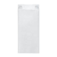 Svačinový papírový sáček 2,5 kg - 15+7x35 cm, bílý, 100 ks
