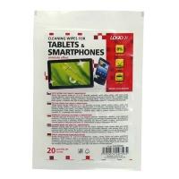 Čisticí ubrousky na tablety a smartphony Logo - uzavíratelný plastový sáček, 20 ks