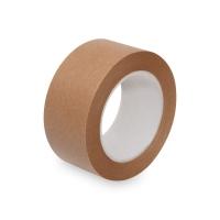 Papírová lepící páska - solvent, 50x50 m, hnědá