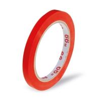Lepící páska pro zavírací strojek - solvent, 9x66 m, červená