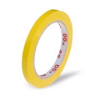 Lepící páska pro zavírací strojek - solvent, 9x66 m, žlutá