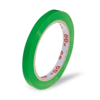 Lepící páska pro zavírací strojek - solvent, 9x66 m, zelená