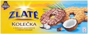 Zlaté kolečka Opavia - s kokosem polomáčená v mléčné čokoládě, 146 g