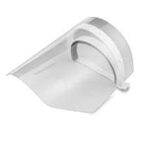Ochranný obličejový štít - plastový, bílý, 1+2 ks - DOPRODEJ