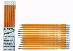 Grafitová tužka č. 2 - s gumou