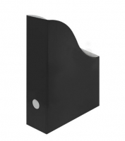 Stojan na katalogy A4 - 80mm, karton, černý