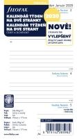 Náplň do diáře Filofax - osobní, týdenní kalendář CZ/SK