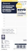 Náplň do diáře Filofax - osobní, denní kalendář CZ/SK