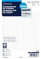 Náplň do diáře Filofax - A5, denní kalendář CZ/SK