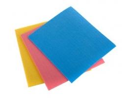 Houbová utěrka - 15,5x18 cm, mix barev, 5 ks