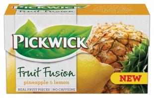 Ovocný čaj Pickwick Fruit Fusion - ananas s citronem, 20 sáčků
