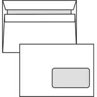 Poštovní obálka C5 - s okénkem, samolepící, 162x229 mm, bílá, 10 ks