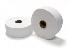Toaletní papír Jumbo 190 - dvouvrstvý, 100% lepená celulóza, 6 rolí