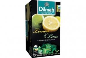 Černý čaj Dilmah - citron a limetka, 20 sáčků