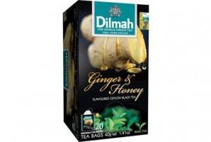 Černý čaj Dilmah - zázvor a med, 20 sáčků
