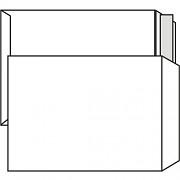 Poštovní taška B4 - bez okénka, krycí páska, 353x250 mm, bílá, 10 ks