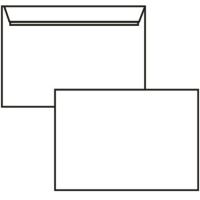 Poštovní obálka C6 - bez okénka, krycí páska, 114x162 mm, bílá, 10 ks