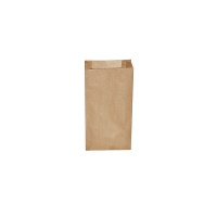 Svačinový papírový sáček 0,5 kg - 10+5x22 cm, hnědý, 500 ks