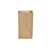 Svačinový papírový sáček 1,5 kg - 14+7x29 cm, hnědý, 500 ks
