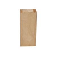 Svačinový papírový sáček 2 kg - 14+7x32 cm, hnědý, 500 ks