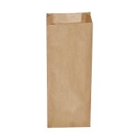 Svačinový papírový sáček 3 kg - 15+7x42 cm, hnědý, 500 ks