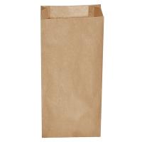 Svačinový papírový sáček 2,5 kg - 20+7x43 cm, hnědý, 500 ks