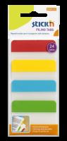 Samolepící záložky Stick n Hopax Filing Tabs - 38x51 mm, plastové, 4x6 záložek, 4 barvy