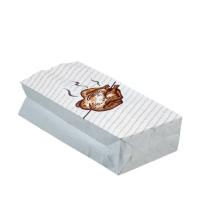 Termo sáček na grilované kuře 1/1 - s potiskem, třívrstvý, 13+8x28 cm, papír/hliník, bílý, 100 ks