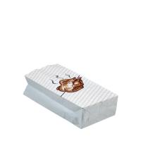 Termo sáček na grilované kuře 1/2 - s potiskem, třívrstvý, 10+6x23 cm, papír/hliník, bílý, 100 ks