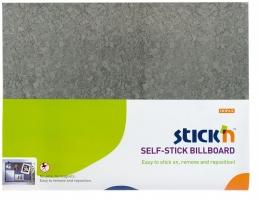 Samolepící nástěnka Stick n Hopax Self - Stick Billboard - 460x580 mm, šedá