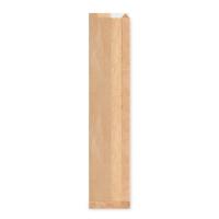 Papírový sáček na pečivo s okénkem - bagety, 12+5x59 cm, hnědý, 1000 ks