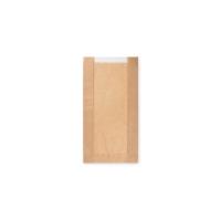 Papírový sáček na pečivo s okénkem - malý, 15+6x29 cm, hnědý, 1000 ks