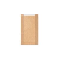 Papírový sáček na pečivo s okénkem - velký, 18+6x32 cm, hnědý, 1000 ks