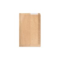 Papírový sáček na pečivo s okénkem - chléb, 22+5x34 cm, hnědý, 1000 ks