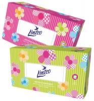 Kosmetické kapesníčky Linteo - v krabičce, dvouvrstvé, 100% celulóza, 200 ks