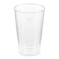 Plastový kelímek Krystal 0,5 l - PS, transparentní, 30 ks