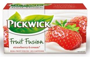 Ovocný čaj Pickwick Fruit Fusion - jahody se smetanou, 20 sáčků