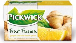 Ovocný čaj Pickwick Fruit Fusion - zázvor s citronem a citronovou trávou, 20 sáčků
