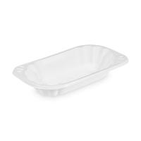 Plastová miska na hranolky 250 ml - oválná, PP, bílá, 250 ks