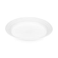 Plastový talíř 20,5 cm - PP, mělký, bílý, 100 ks - DOPRODEJ