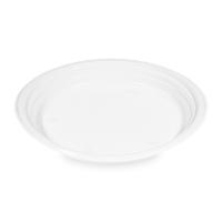 Plastový talíř 22 cm - PP, nedělený, bílý, 100 ks - DOPRODEJ